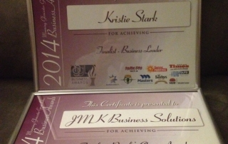 JMK Business Solutions Finalist - Manning, Gloucester, Great Lakes Business Awards